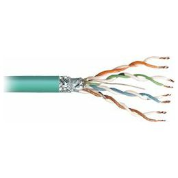Transmedia SFTP-Cable, Stranded Wire, CAT5e. green, on spool, 100 m