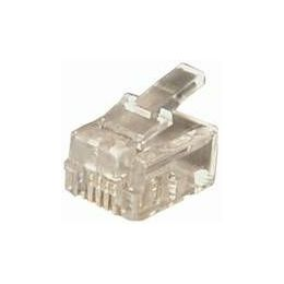 Transmedia RJ11 Plug Western 6 4-plug