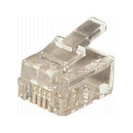 Transmedia RJ11 Plug Western 6 4-p round