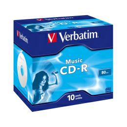 CD-R Verbatim 700MB Audio Colour LiveIt 10 pack JC