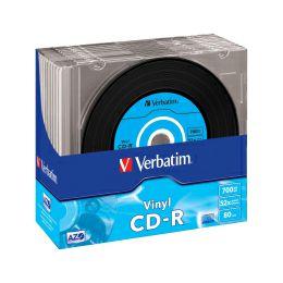 CD-R Verbatim 700MB 48× Datalife Plus Vinyl Look 10 pack Slimcase