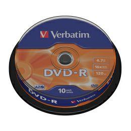 DVD-R Verbatim 4.7GB 16× Matt Silver 10 pack spindle