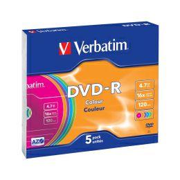 DVD-R Verbatim 4.7GB 16× Pastell Colours 5 pack Slimcase