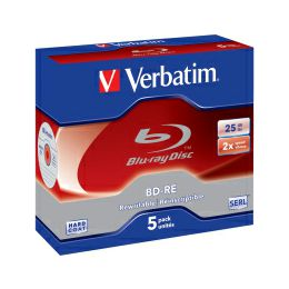 DVD Blu-Ray Verbatim BD-RE SL 2× 25GB White Blue Surface 5 pack JC (Single Layer)