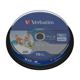 DVD Blu-Ray Verbatim BD-R SL 6× 25GB HTL WIDE PRINTABLE No ID 10 pack spindle (Single Layer)