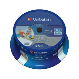 DVD Blu-Ray Verbatim BD-R SL 6× 25GB HTL WIDE PRINTABLE No ID 25 pack spindle (Single Layer)