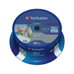 DVD Blu-Ray Verbatim BD-R SL 6× 25GB HTL WIDE PRINTABLE No ID 25 pack spindle (Single Layer)