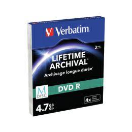 DVD R M-Disc Verbatim 4.7GB 4× Matt Silver 3 pack SC