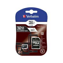 Verbatim memorijska kartica Micro Secure Digital (HC) 32GB Class 10 + adapter, Blister Pack