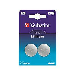Verbatim CR2430 Lithium baterija, 3V (2 kom./pakiranje)