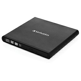 Verbatim DVD+/-RW vanjski snimač, M-Disc kompatibilan, USB2.0, crni