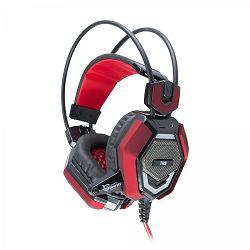 WHITE SHARK gaming slušalice TIGER crno-crvene