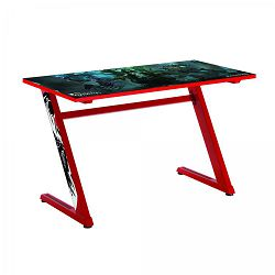 WHITE SHARK gaming stol ZZ-RED 120x60x72,5 cm