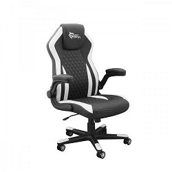 WHITE SHARK gaming stolica DERVISH crno-bijela
