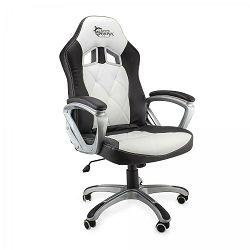 WHITE SHARK gaming stolica PHANTOM crno-bijela
