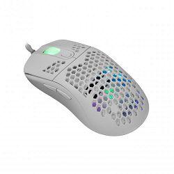 WHITE SHARK RGB gaming miš GALAHAD bijeli 6400dpi