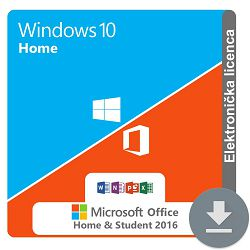 Windows 10 Home + MS Office 2016 Home and Student ESD