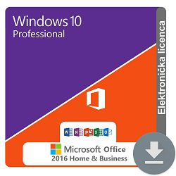 Windows 10 Professional + MS Office 2016 Home and Business ESD