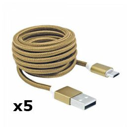 Kabel USB 2.0 M-micro USB M, 1,5m, zlatni, 5kom