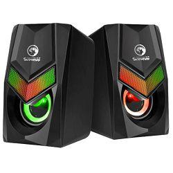Zvučnici MARVO SCORPION SG-118, LED, 2.0, 2x3W, crni