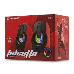 Zvučnici Rampage RMS-G7 FALSETTO, LED osvjetljenje, 6W, 2.0, crveni