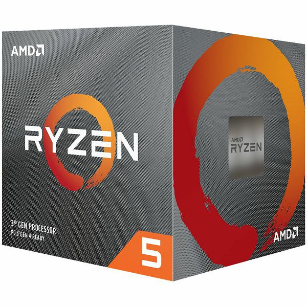 AMD CPU Desktop Ryzen 5 6C/12T 3600 (4.2GHz,36MB,65W,AM4) box with Wraith Stealth cooler, 100-100000031BOX