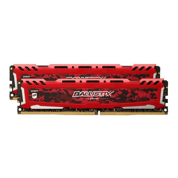 Crucial 16GB Kit ( 2x8GB ) DDR4 3000 MT/s (PC4-24000) CL15 RED, BLS2K8G4D30AESEK-