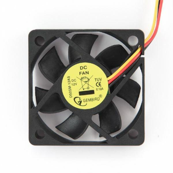 Gembird 50 mm sleeve bearing cooling fan, 12 V, GEM-D50SM-12AS