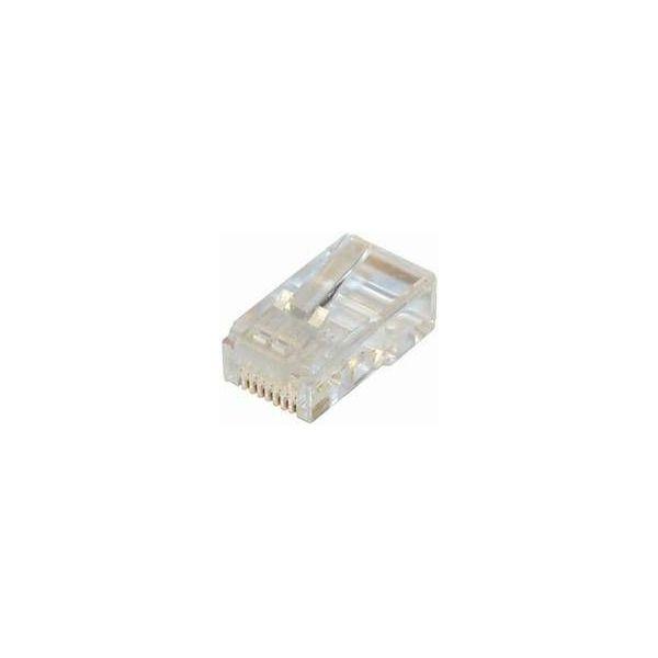 NaviaTec CAT5e unshielded RJ45 modular plug round cable 10pc, NVT-PLUG-216