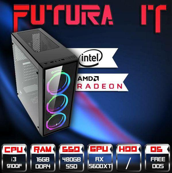 Računalo FuturaIT CoffeeRX Gamer (Intel i3 9100F, H310, 16GB DDR4,480 SSD, RX 5600XT, 500W) FreeDos, int-cf3-gamer
