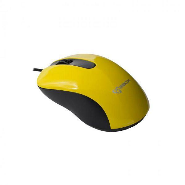 SBOX žičani miš M-901 žuti, 0616320538798